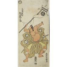 鳥居清満: Actor Sakata Sajûrô as Omori Hikoshichi, Edo period, circa 1757-1770 - ハーバード大学