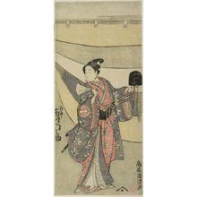 Torii Kiyomitsu: Actor Ichikawa Monnosuke 2nd as Yukihira, Edo period, circa 1755-1765(?) - Harvard Art Museum