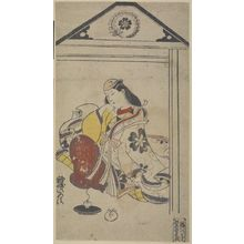 鳥居清信: Actor Iwai Sagenda(?) as a Court Lady, Edo period, circa 1710 - ハーバード大学
