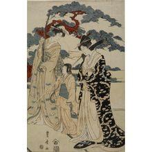 Utagawa Toyohiro: THREE FIGURES - Harvard Art Museum