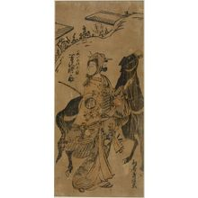 鳥居清経: LADY LEADING A DARK HORSE, Edo period, - ハーバード大学