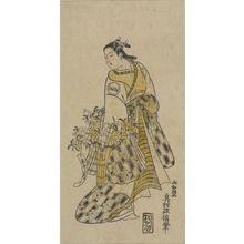 奥村政信: Actor ARASHI KIYOSABURO AS YAOYA OSHICHI, Edo period, - ハーバード大学