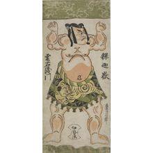 Torii Kiyonobu II: Wrestler Shakagadake Kumoemon, Edo period, - Harvard Art Museum