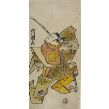Torii Kiyonobu I: Actor Ichikawa Danjûrô as Soga no Gorô Tokimune, Edo period, early 18th century - Harvard Art Museum