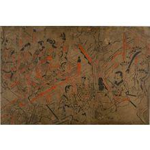 菱川師宣: Party at a Daimyô Residence, Early Edo period, circa 1670 - ハーバード大学