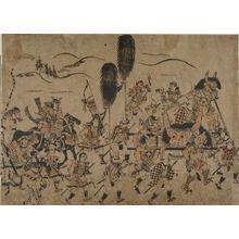 Hishikawa Moronobu: Legendary Victory Procession (Shuten Dôji?), Early Edo period, circa 1680 - Harvard Art Museum