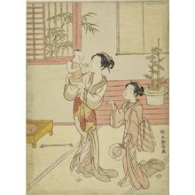 Suzuki Harunobu: Woman and Girl Amusing a Baby, Edo period, datable to 1767 - Harvard Art Museum