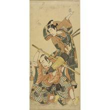 Ippitsusai Buncho: Actors Ichikawa Yaozô and Ichikawa BENZO - Harvard Art Museum