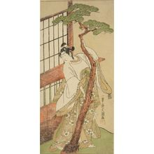 Ippitsusai Buncho: Actor Ichikawa Monnosuke 2nd as Tsunewakamaru in the play Iro Moyô Aoyagi Soga performed at the Nakamura Theater from the second month of 1775, Edo period, 1775 (2nd month) - Harvard Art Museum