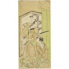 Ippitsusai Buncho: Actors Nakamura Matsue and Ichikawa Yaozô - Harvard Art Museum