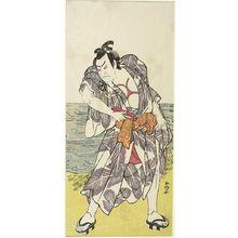 Katsukawa Shunko: Actor Nakamura Denkûrô 2nd as a Wrestler, Edo period, circa 1770-1777 - Harvard Art Museum