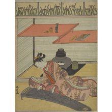 鈴木春信: Girl Playing Koto by Chigaidana, Edo period, circa 1765-1770 - ハーバード大学