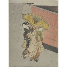 Suzuki Harunobu: Two Girls in the Rain, Edo period, circa 1765-1770 - Harvard Art Museum