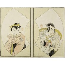 Katsukawa Shunsho: Actors Nakajima Kanzaemon [right] and Anekawa Shinshirô [left], Edo period, circa 1775-1792 - Harvard Art Museum