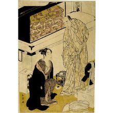 勝川春章: Actors Segawa Kikunojô and Sawamura Sôjûrô in their Dressing Room, Edo period, - ハーバード大学