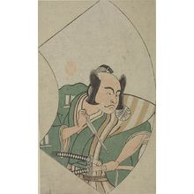 Katsukawa Shunsho: RIGHT-MAN IN GREEN & PINK-SWORD - Harvard Art Museum