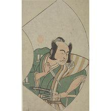 Katsukawa Shunsho: RIGHT-MAN IN GREEN & PINK-SWORD - Harvard Art Museum