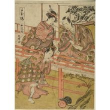 Katsukawa Shunsho: MAN & WOMAN SEATED ON A VERANDA - Harvard Art Museum