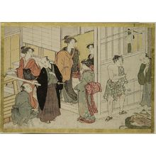 Katsukawa Shunsho: Street Scene (book illustration), Edo period, late 18th century - Harvard Art Museum