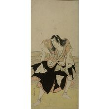 Katsukawa Shunko: Actor in the Role of Samurai Brandishing Sword - Harvard Art Museum