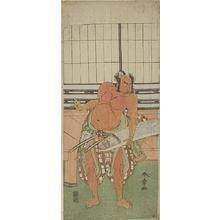 勝川春章: Actors Ichikawa Yaozô and Nakajima MIZO, Edo period, late 18th century - ハーバード大学