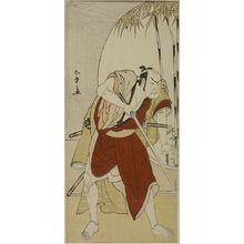 勝川春章: Actor Nakamura Denkûrô 2nd as a Samurai Ready to Fight, Edo period, dated to 1775 - ハーバード大学