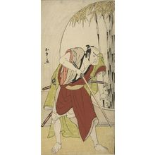 Katsukawa Shunsho: Actor Nakamura Nakazô 1st as Teraoka Heiemon in the play Kanadehon Chûshingura, performed at the Morita Theater from the eighth month of 1779, Edo period, 1779 (8th month) - Harvard Art Museum