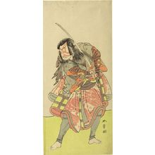 勝川春章: Actor Nakamura Tomijûrô 1st as Akushichibyôe Kagekiyo in the play Kite Hajime Hatsugai Soga, performed at the Morita Theater from the first month of 1774, Edo period, 1774 (1st month) - ハーバード大学