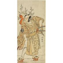 勝川春章: Actor Nakamura Nakazô 1st as Matano no Gorô in the play Hana-zumô Genji Hiiki, performed at the Nakamura Theater from the eleventh month of 1775, Edo period, 1775 (11th month) - ハーバード大学