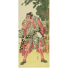 Katsukawa Shunko: Actor Ichikawa Monnosuke AS A SAMURAI WITH DRUM - Harvard Art Museum