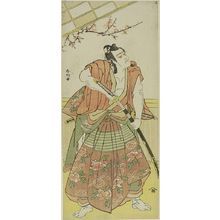 勝川春好: Actor Ichikawa Komazô 2nd AS A SAMURAI, Edo period, - ハーバード大学