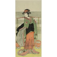 Katsukawa Shunjô: Actor TAMANAZAWA SEIJIRO AS A FEMALE WATER-CARRIER - ハーバード大学
