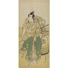 Katsukawa Shunjô: Actor Ichikawa Monnosuke AS SOGA NO GORO, Edo period, - ハーバード大学