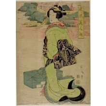 Kikugawa Eizan: Standing Woman with Wrapped Box - Harvard Art Museum