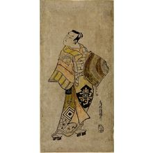 Torii Kiyomasu I: Actor Ichikawa Danjûrô 2nd as a Komuso, Mid Edo period, datable to 1730 - Harvard Art Museum