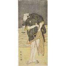 Katsukawa Shun'ei: MAN STANDING ON BEACH BY WATER - Harvard Art Museum