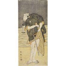 Katsukawa Shun'ei: MAN STANDING ON BEACH BY WATER - Harvard Art Museum