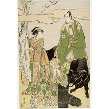 Torii Kiyonaga: Actors Ichikawa Danjûrô 5th, Segawa Kikujirô and Ichikawa Monnosuke - Harvard Art Museum