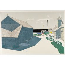 Kitaoka Fumio: Fishing Village, Shôwa period, dated 1959 - Harvard Art Museum