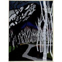 Mabuchi Thoru: Road of Birch Trees, Shôwa period, dated 1960 - ハーバード大学
