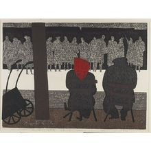 Asai Kiyoshi: Bookstore, Seine, Paris, Shôwa period, dated 1960 - Harvard Art Museum