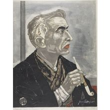 関野準一郎: Portrait of Lafcadio Hearn, Shôwa period, dated 1953 - ハーバード大学