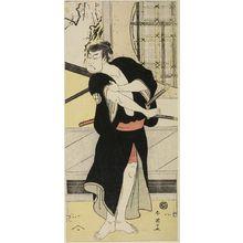 勝川春英: Actor Sakata Hangorô 3rd, Edo period, circa 1790s - ハーバード大学