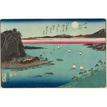Utagawa Seima: ISHIYAMA SHUGETTSU, from the series Eight Views of Lake Biwa (ômi hakkei), Late Edo period, 1854 - ハーバード大学