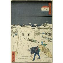 Utagawa Hirokage: SNOW AT OKULNAME - Harvard Art Museum