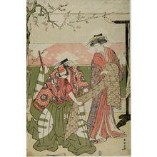 勝川春潮: Actors Segawa Kikunojô 3rd and Sawamura Sôjûrô 3rd - ハーバード大学
