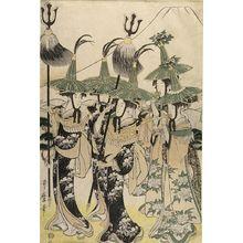 喜多川歌麿: Parody of the Procession of a Korean Ambassador (Mitate Tojin gyoretsu), Late Edo period, circa 1797-1798 - ハーバード大学