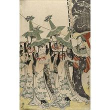 Kitagawa Utamaro: Parody of the Procession of a Korean Ambassador (Mitate Tojin gyoretsu), Late Edo period, circa 1797-1798 - Harvard Art Museum