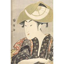 歌川国政: Actor Iwai Kumesaburô in a Female Role, Late Edo period, - ハーバード大学