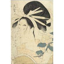 Hosoda Eishi: TAMA-YA NAI HANAMURASAKI,THE OIRAN,VIOLET,OF TAMA HOUSE, Late Edo period, 1795 - Harvard Art Museum